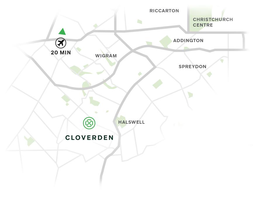 Cloverden location map